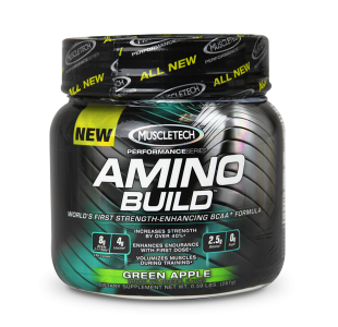 MuscleTech Amino Build Strength Enhancing Amino Acids and BCAAs - 270g