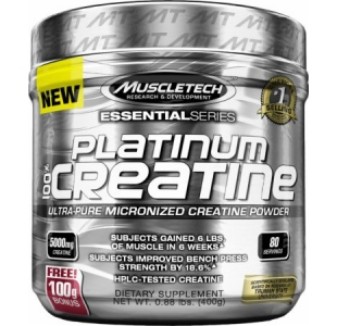 MuscleTech Platinum 100% Ultra Pure Micronised Creatine - 400g