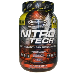 MuscleTech Nitro-Tech Protein Whey Isolate with Creatine & BCAAs the Performance Series - 900g