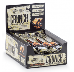 Warrior Crunch Protein Bars - Box of 12 x 64g Bars