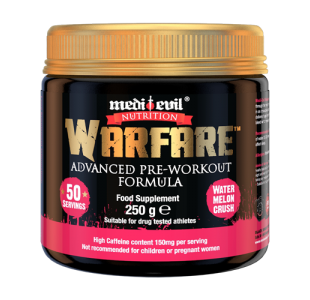 Medi-Evil Nutrition Warfare Advanced Pre Workout with BCAAs - 250g