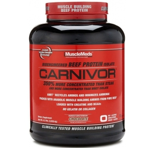 MuscleMeds Carnivor Beef Protein Isolate Powder with Creatine and BCAAs - 1.8kg