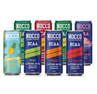 NOCCO Mixed Flavour BCAA Energy Drink with 180mg Caffeine (Case of 12 / 24) - Noccos 330ml Cans