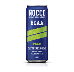 NOCCO Pear Flavour BCAA Energy Drink +180mg Caffeine (Case of 12 / 24) - Noccos 330ml Cans
