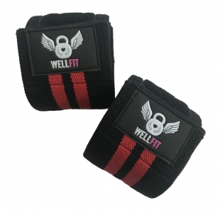Well Fit Black Weight Lifting Knee Straps (pair)