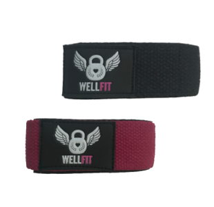 Well Fit Black Weight Lifting Wrist Straps (pair)